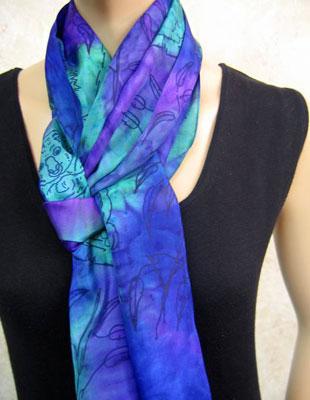 silk scarves painted with australian koala designs